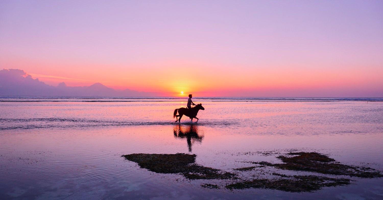 Balade à cheval, Deauville