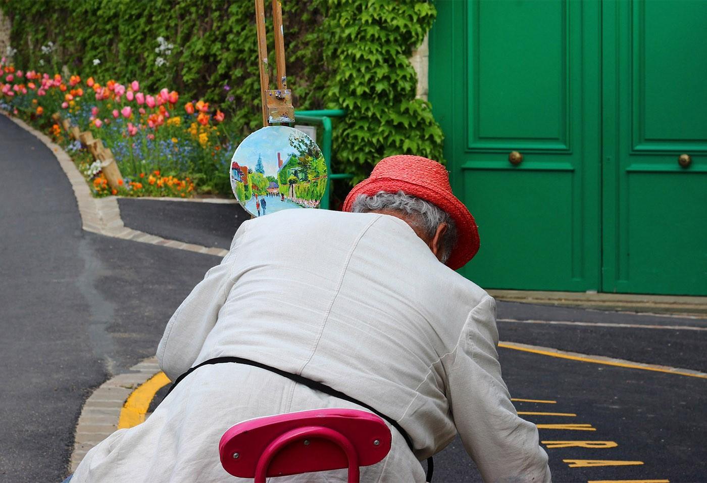 Giverny peintre de rue