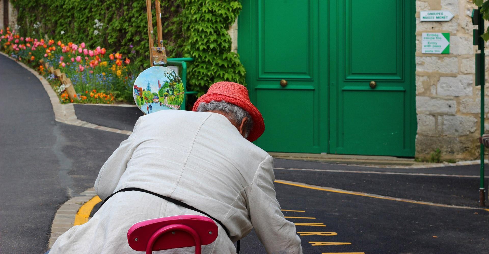 Peintre à Giverny