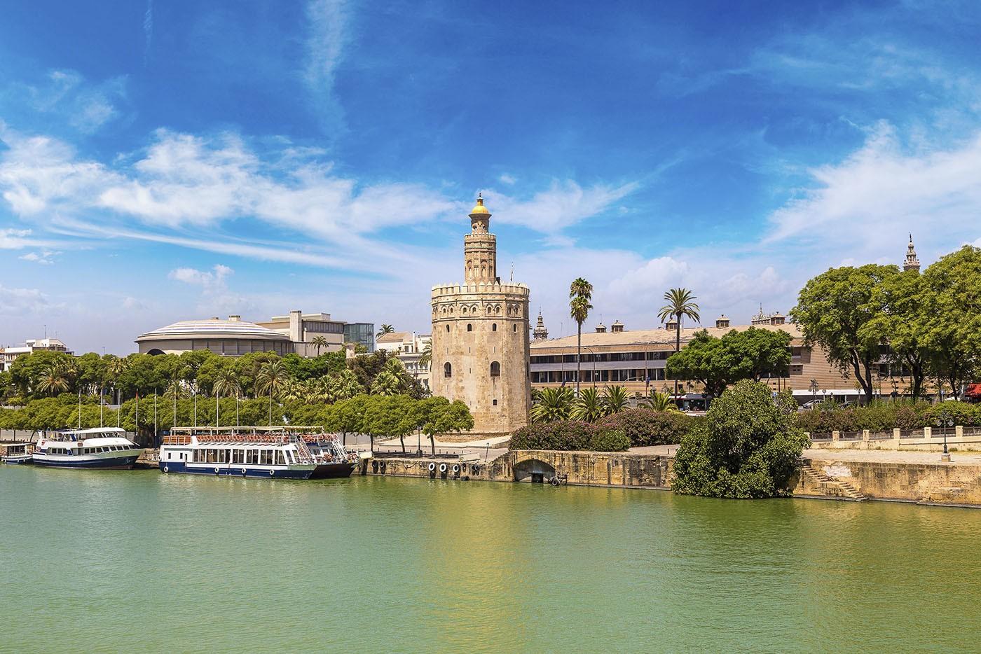 Tour d'Or et Guadalquivir, Séville, Andalousie