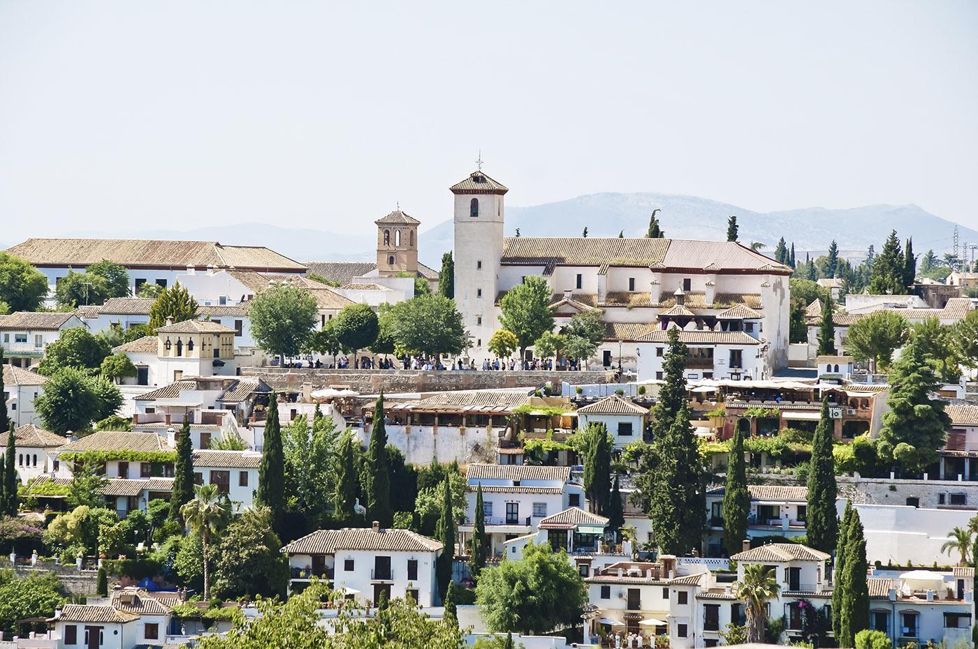 Panorama de l'Albaicin, Grenade, Andalousie