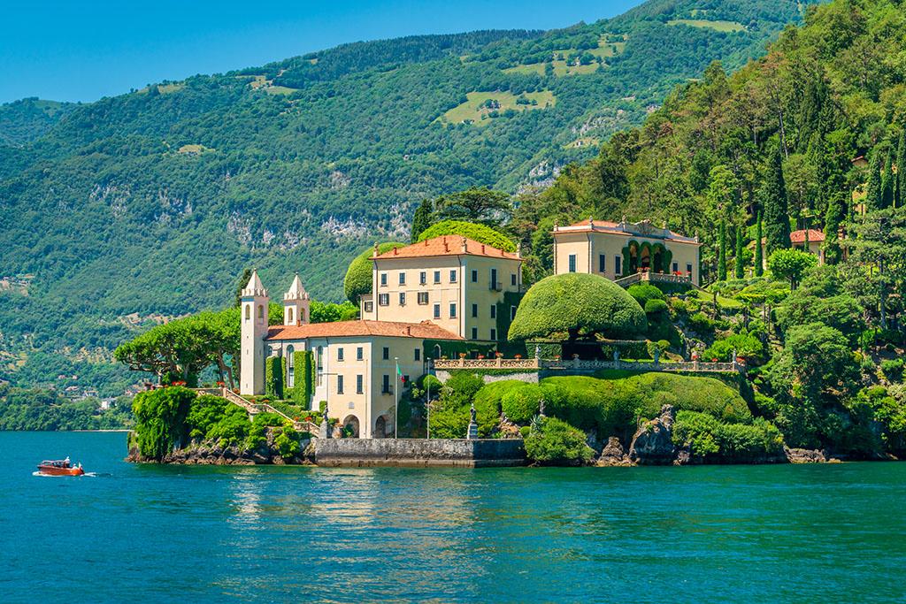 Villa Balbianello Lac de Come arrivee