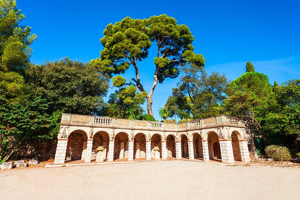 Ruines romaines du parc du château Nice