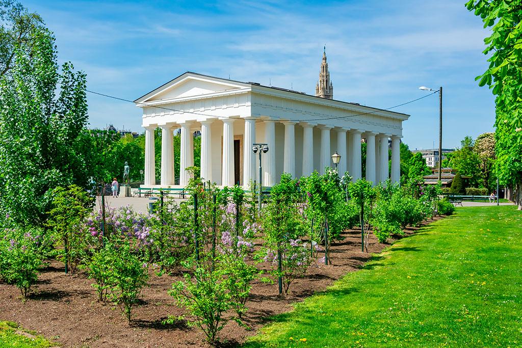 Temple de Théseée dans le parc Volksgarten Vienne