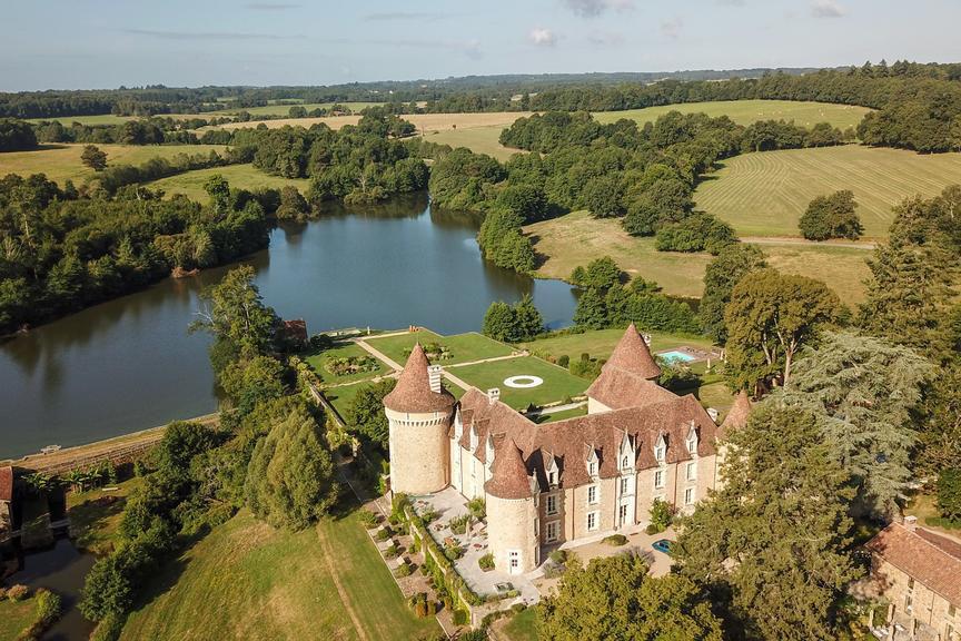 Domaine des Etangs hotels de charme pres de Bordeaux vue